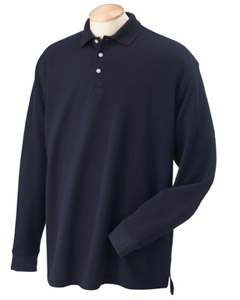 Utah State Mens LS Performance Plus Pique Polo
