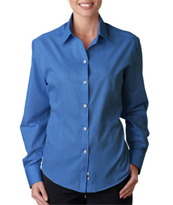 USU Ladies Wrinkle Free End on End Shirt