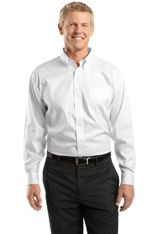Utah State Mens Non-Iron Pinpoint Oxford Shirt