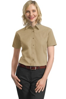 USU Women's SS Cotton Twill Shirt