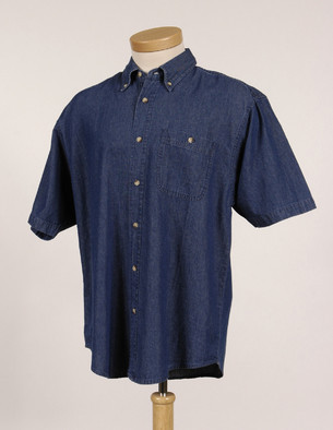 Utah State Mens Scout Denim SS Shirt