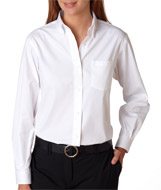 USU Ladies LS Blended Pinpoint Oxford Shirt