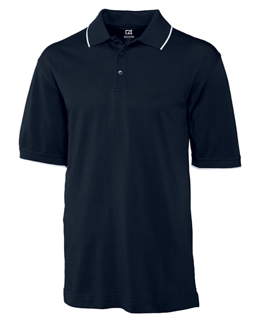 Aggie Mens CB DryTec Cutter Tipped Polo
