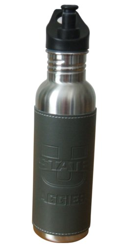 Utah State Leather Wrap Bottle